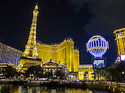 The Eiffel Tower is one third of the original one. Las Vegas, Nevada.