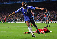 Chelsea FC vs Liverpool FC Champions League S-Final 2nd Leg 30/04/08<br /> Photo Nicky Hayes/Fotosports International<br /> Didier Drogba goal celebration.