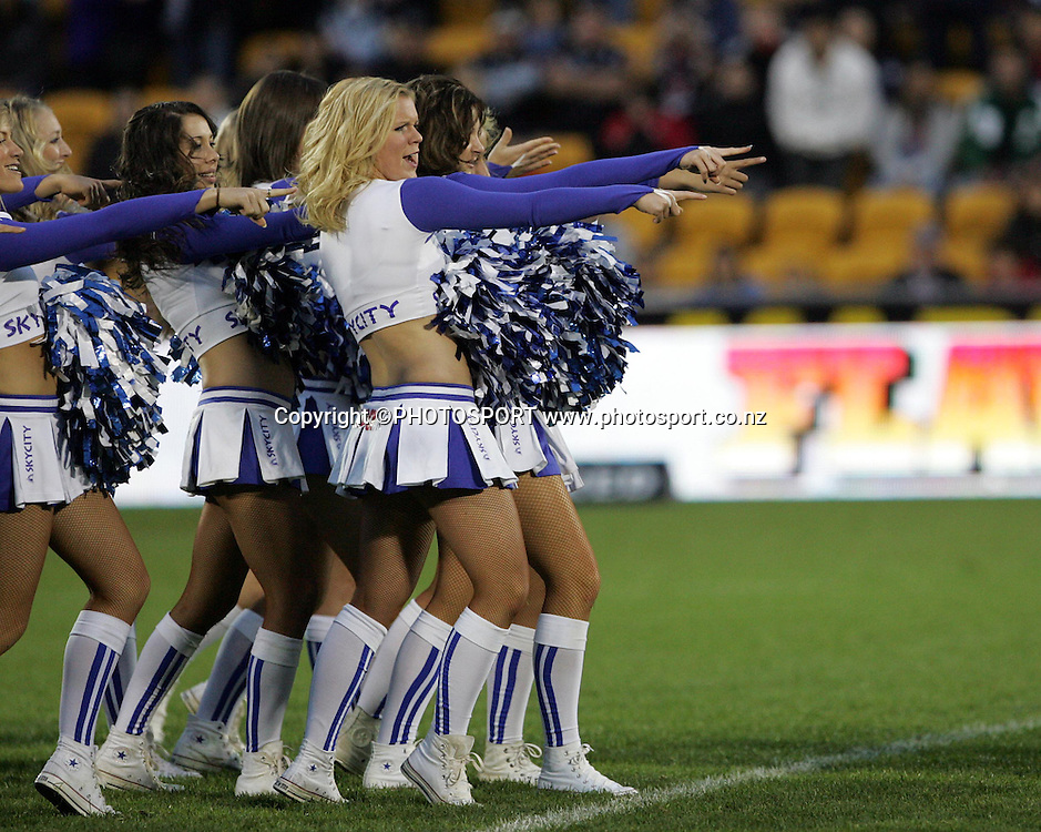 Sky City Cheerleaders. NRL, rugby league, Vodafone Warriors v Roosters, Mt Smart Stadium, Auckland, Sunday 25 May 2008. Photo: Renee McKay/PHOTOSPORT