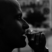 Having a smoke at Lisbon