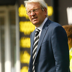 Dover's manager Chris Kinnear looks on concerned during the National League match between Dover Athletic FC and Eastleigh FC at Crabble Stadium, Kent on 25 August 2018. Photo by Matt Bristow.