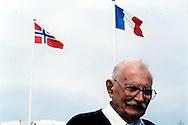 Bob Tackley, British D-Day veteran, in Courseulles in June 2004. Bob died in 2010 in Wales.