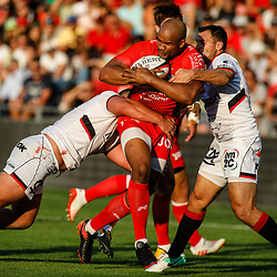 Jon Paul Pietersen of Toulon during the pre-season match between Rc Toulon and Lyon OU at Felix Mayol Stadium on August 17, 2017 in Toulon, France. (Photo by Guillaume Ruoppolo/Icon Sport)