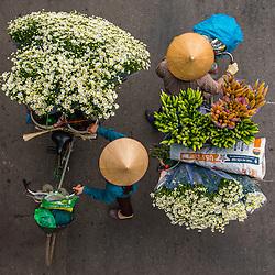 Vietnam Streetvendors from above