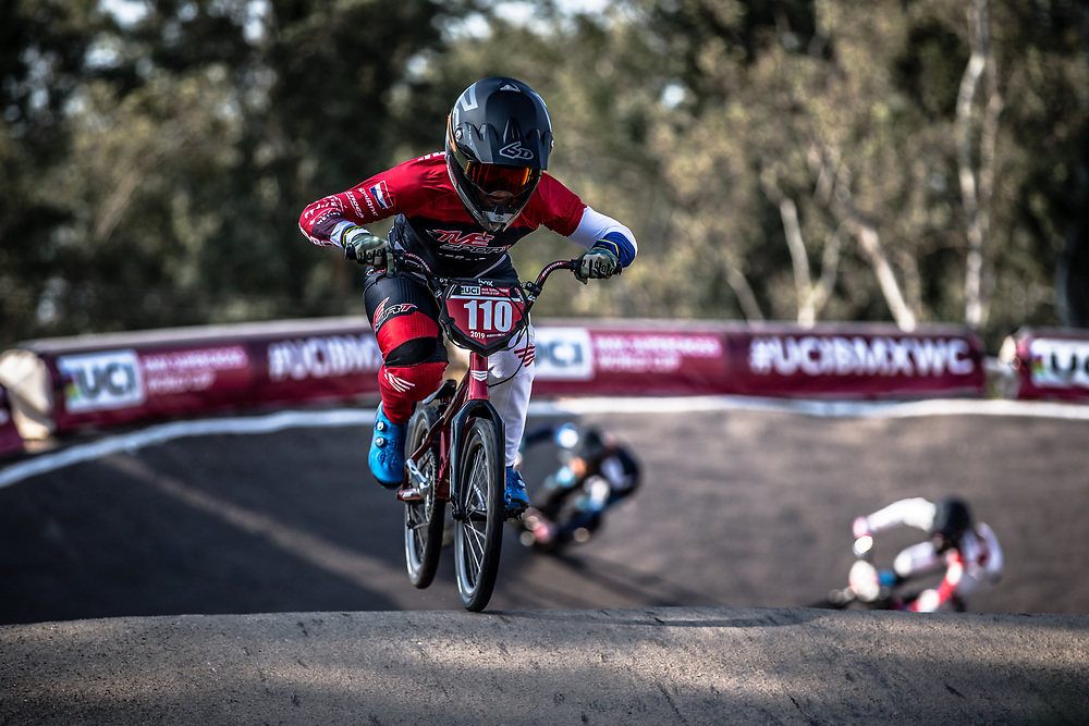 #110 (SMULDERS Laura) NED at Round 10 of the 2019 UCI BMX Supercross World Cup in Santiago del Estero, Argentina