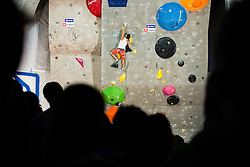 Sean McColl (CAN) during men final competition of IFSC Climbing World Cup Kranj 2014, on November 16, 2014 in Arena Zlato Polje, Kranj, Slovenia. (Photo By Grega Valancicr / Sportida.com)