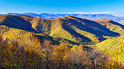 View from the top of Blackrock Summit, located along a short hiking trail in the south district of Shenandoah National Park