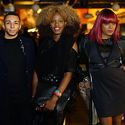 London, England, UK. 1st December 2017. Josh Young (L)winners Austin ,Nikki Green (M)attends Sagaboi Magazine: Men's Style 2017 - book launch held at WeWork Old Street.