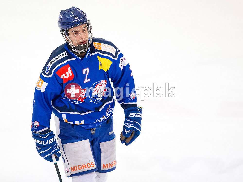 ZSC Lions forward Axel Lukaszek do Carmo is pictured during the fourth Elite B Playoff Final ice hockey game between ZSC Lions and Rapperswil-Jona Lakers in Duebendorf, Switzerland, Friday, Mar. 17, 2017. (Photo by Patrick B. Kraemer / MAGICPBK)