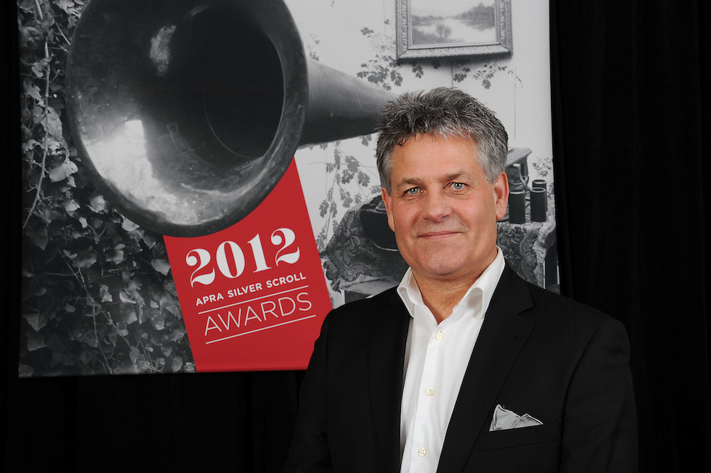 Michael Williams, finalist at of the Sounz Contemporary Award at the APRA Silver Scrolls Awards 2012. Auckland Town Hall. 13 September 2012.
