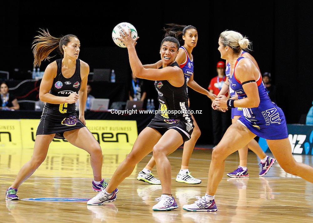 Waikato BOP Magic's Grace Rasmussen in action during the ANZ Championship netball match - Waikato BOP Magic v Northern Mystics at Claudelands Arena, Hamilton, New Zealand on Saturday 20 April 2014.  Photo:  Bruce Lim / www.photosport.co.nz