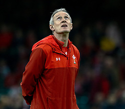 Attack Coach Rob Howley of Wales during the pre match warm up<br /> <br /> Photographer Simon King/Replay Images<br /> <br /> Under Armour Series - Wales v Tonga - Saturday 17th November 2018 - Principality Stadium - Cardiff<br /> <br /> World Copyright © Replay Images . All rights reserved. info@replayimages.co.uk - http://replayimages.co.uk