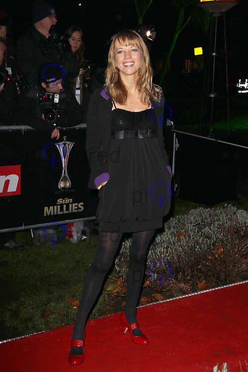 LONDON - DECEMBER 19: Sara Cox attends the The Sun Military Awards 'The Millies' at the Imperial War Museum, London, UK on December 19, 2011. (Photo by Richard Goldschmidt)