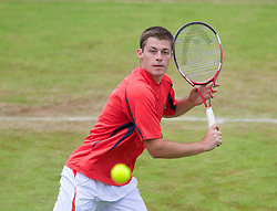 LIVERPOOL, ENGLAND - Saturday, June 22, 2013: Neil Skupski during Day Four of the Liverpool Hope University International Tennis Tournament at Calderstones Park. (Pic by David Rawcliffe/Propaganda)