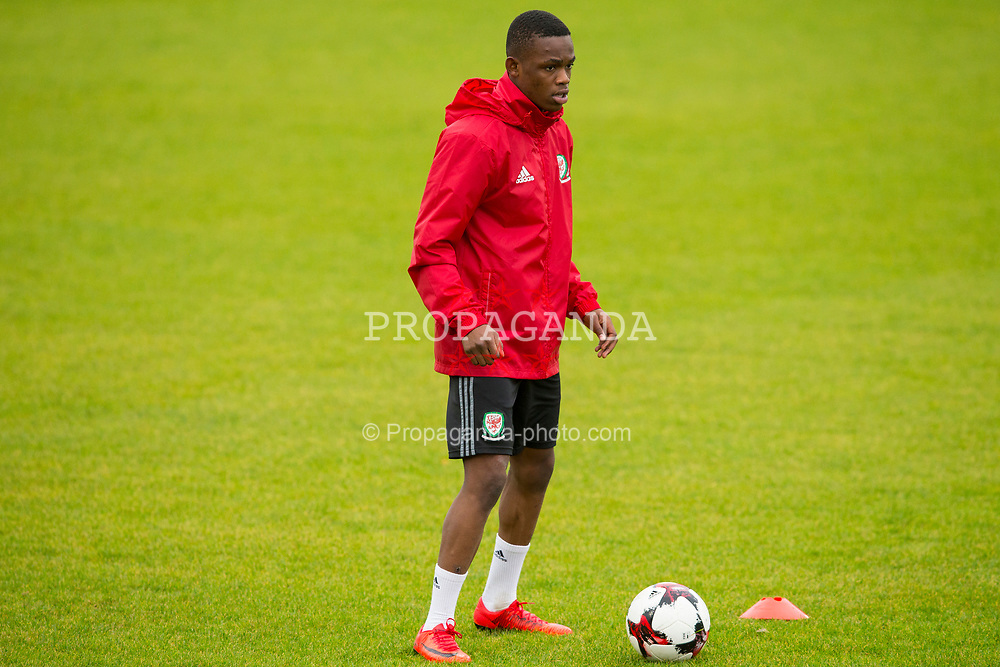 BANGOR, WALES - Tuesday, November 7, 2017: Wales' Rabbi Matondo during a training session at VSM Bangor City Stadium ahead of the UEFA Under-21 European Championship Qualifying Group 8 match against Bosnia and Herzegovina. (Pic by Paul Greenwood/Propaganda)