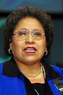 Linda Chavez Thompson, Executive Vice-President AFL-CIO, speaking at the TUC
