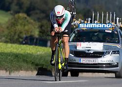 25.09.2018, Innsbruck, AUT, UCI Straßenrad WM 2018, Einzelzeitfahren, Elite, Damen, von Hall/Wattens nach Innsbruck (27,8 km), im Bild Marien Reusser (SUI) // Marien Reusser of Switzerland during the Womens Elite Individual time trial from Hall/Wattens to Innsbruck (27,8 km) of the UCI Road World Championships 2018. Innsbruck, Austria on 2018/09/25. EXPA Pictures © 2018, PhotoCredit: EXPA/ Reinhard Eisenbauer
