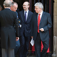 London Sep 21st   Westminster Abbey  The Prince of Wales, Patron, Battle of Britain Fighter Association, accompanied by The Duchess of Cornwall, attends the Battle of Britain Service of Thanksgiving and Rededication, Westminster Abbey,  In the picture Des Browne, Member of Parliament for Kilmarnock and Loudoun and the Secretary of State for Defence and Secretary of State for Scotland in the Cabinet.