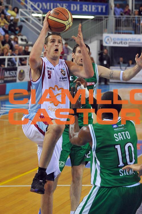 DESCRIZIONE : Rieti Lega A 2008-09 Solsonica Rieti Montepaschi Siena<br /> GIOCATORE : Jiri Hubalek<br /> SQUADRA : Solsonica Rieti<br /> EVENTO : Campionato Lega A 2008-2009<br /> GARA : Solsonica Rieti Montepaschi Siena<br /> DATA : 05/04/2009<br /> CATEGORIA : Tiro<br /> SPORT : Pallacanestro<br /> AUTORE : Agenzia Ciamillo-Castoria/E.Grillotti