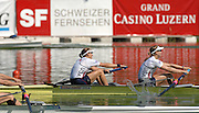 Lucerne, SWITZERLAND,  A Finals, USA W2-, bow, Megan COOKE and Anna MICKELSON, at the 2007 FISA World Cup, Lucerne, on the Rotsee Lake, 15/07/2007  [Mandatory Credit Peter Spurrier/ Intersport Images] , Rowing Course, Lake Rottsee, Lucerne, SWITZERLAND.