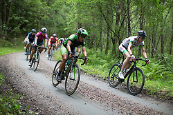 Marta Tagliaferro (ITA) of Cylance Pro Cycling descends on the final gravel section of the Crescent Vargarda - a 152 km road race, starting and finishing in Vargarda on August 13, 2017, in Vastra Gotaland, Sweden. (Photo by Balint Hamvas/Velofocus.com)