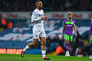 Kemar Roofe of Leeds United (7) trots back to defend a set-piece during the EFL Sky Bet Championship match between Leeds United and Bristol City at Elland Road, Leeds, England on 24 November 2018.