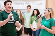 "Town of Wallkill, New York -  Cornwall High School students sing a song from ""The Wiz"" during the Orange County Arts Council's All-County High School Musical Showcase and Arts Display at the Galleria at Crystal Run on Feb. 27, 2016."