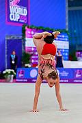 Gergalo Rebecca during the qualification of the ball at the Pesaro World Cup 2018.<br /> She was born at Helsinki in Finland in 2000. Her dream is to participate in the 2020 Olympic Games in Tokyo.