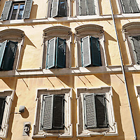 Window shutters in Rome, Italy.