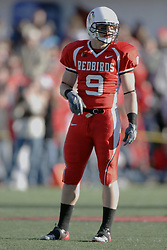 14 October 2006: Tom Nelson.&#xD;The 6th largest crowd at Hancock Stadium came to watch a game that put 8th ranked Southern Illinois Salukis against 5th ranked Illinois State University Redbirds.  The Redbirds stole the show for a Homecoming win by a score of 37 - 10. Competition commenced at Hancock Stadium on the campus of Illinois State University in Normal Illinois.<br />