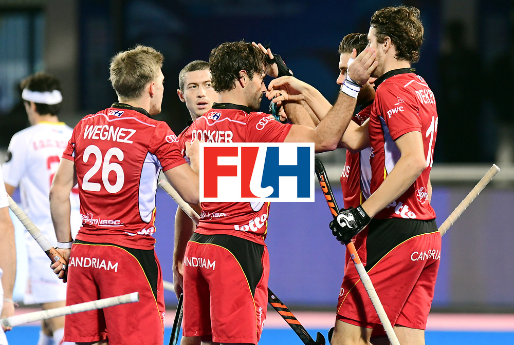 Odisha Men's Hockey World League Final Bhubaneswar 2017<br /> Match id:18<br /> Belgium v Spain<br /> Foto: Sebastien Dockier (Bel) scored 1-0<br /> COPYRIGHT WORLDSPORTPICS FRANK UIJLENBROEK