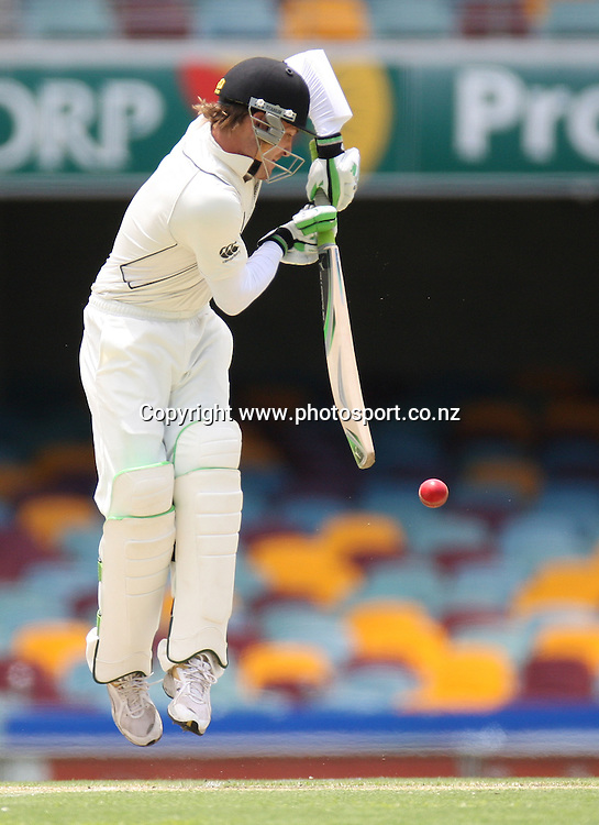 New Zealand wicketkeeper/batsman Brendon McCullum in action during day 2 of the first test match between Australia and New Zealand at the Gabba. Brisbane, Australia. Friday 21 November 2008. Pic: Andrew Cornaga/PHOTOSPORT