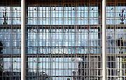Nederland, Velsen, 26-2-2006<br /> Beverwijk, IJmuiden, Wijk aan zee.<br /> Ingang, Dudok gebouw, Corus, hoogovens. Metaalindustie, staalproductie, staalproduktie, zware industrie, vraag en aanbod staal op wereldmarkt, smelterij, luchtvervuiling, luchtverontreiniging, milieu, milieuvervuiling, luchtkwaliteit, stof, stofdeeltjes, economie, british steel, fusie, werkgelegenheid<br /> <br /> Foto: Flip Franssen/Hollandse Hoogte
