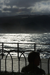 View from the sea front in the Canary Islands,