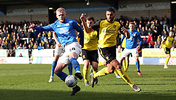 Frazer Blake-Tracy of Peterborough United in action with Colin Daniel of Burton Albion - Mandatory by-line: Joe Dent/JMP - 29/02/2020 - FOOTBALL - Pirelli Stadium - Burton upon Trent, England - Burton Albion v Peterborough United - Sky Bet League One