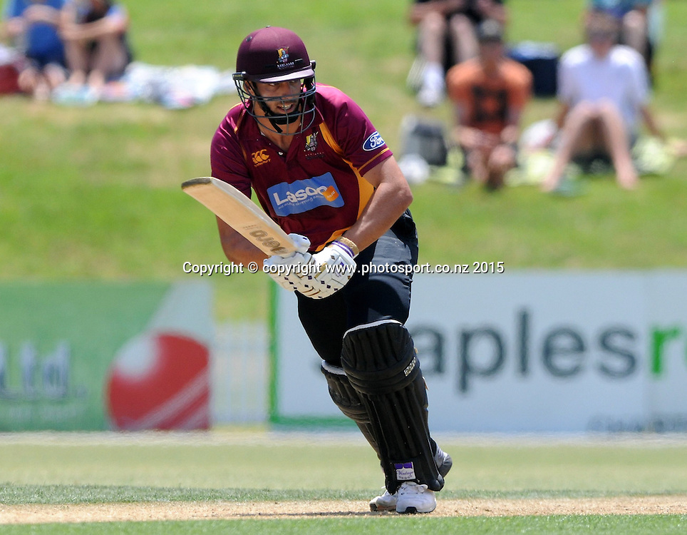 Northern Knight's Daryl Mitchell in action in the Ford Trophy One Day cricket match, Knights v Firebirds, Bay Oval, Mt Maunganui, Thursday, January 01, 2015. Photo: Kerry Marshall / photosport.co.nz