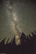 Milky Way from near Reflection Lake on Mt Raineir.