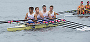 Hamburg. GERMANY.  GBR JM4X. Steven PARSONAGE, Rowan LAW, Samuel MEIJER and Chris LAWRIE. Return to the boating pontoons after their warm down. Saturday Morning, Semi Finals A/B  at the 2014 FISA Junior World rowing. Championships.  11:31:13  Saturday  09/08/2014  [Mandatory Credit; Peter Spurrier/Intersport-images] 2014. Empacher. Hamburg.