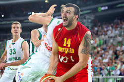 Nikola Pekovic of Montenegro at friendly match between Slovenia and Montenegro for Adecco Cup 2011 as part of exhibition games before European Championship Lithuania on August 7, 2011, in SRC Stozice, Ljubljana, Slovenia. (Photo by Urban Urbanc / Sportida)