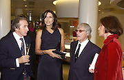 Jackie Stewart, Slavika and Bernie Ecclestone and Mrs. Jacke Stewart. Fundraising dinner in aid of Tommy's Campaign, Bloomberg Space. © Copyright Photograph by Dafydd Jones 66 Stockwell Park Rd. London SW9 0DA Tel 020 7733 0108 www.dafjones.com