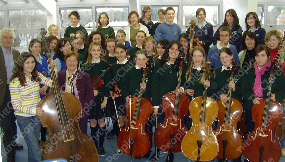 The Colaiste Muire Orchestra who will perform with St Peter's College Orchestra from Dunboyne at the  National Concert Hall as part of the annual  Festival of Irish Youth  Orchestras  next month.