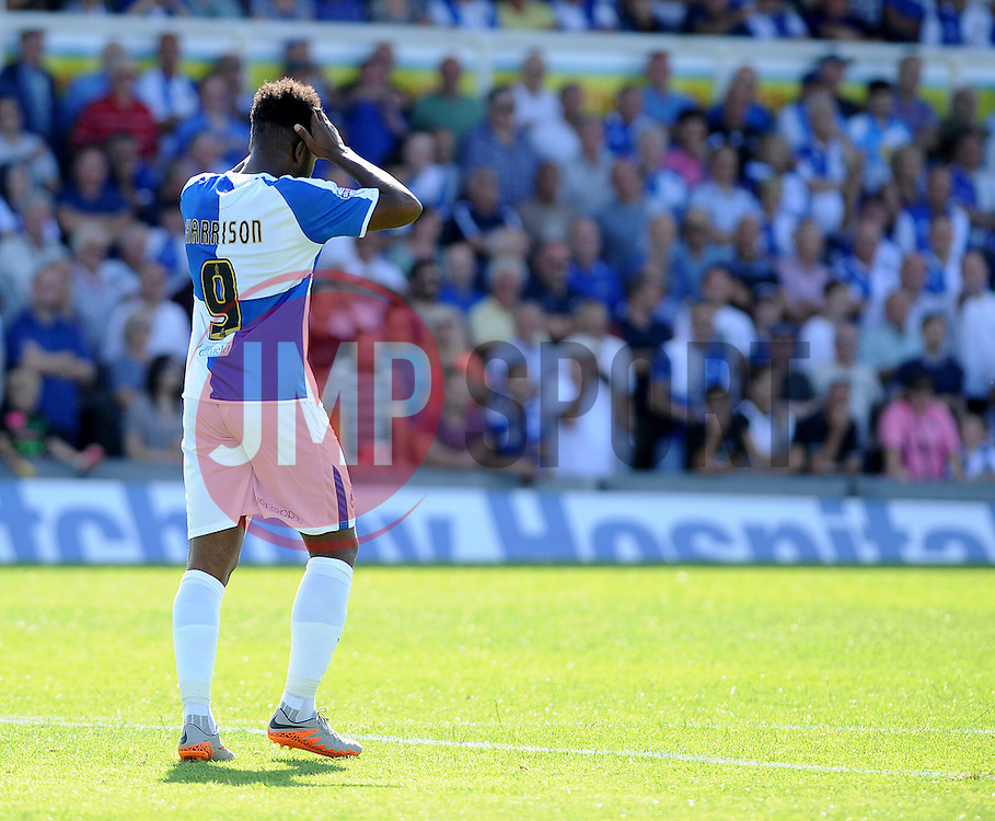 A dejected Ellis Harrison of Bristol Rovers - Mandatory byline: Neil Brookman/JMP - 07966386802 - 08/08/2015 - FOOTBALL - Memorial Stadium -Bristol,England - Bristol Rovers v Northampton Town - Sky Bet League Two
