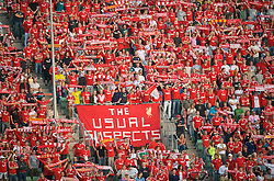 OSLO, NORWAY - Wednesday, August 5, 2009: Liverpool's Norwegian supporters during a preseason match against FC Lyn Oslo at the Bislett Stadion. (Pic by David Rawcliffe/Propaganda)