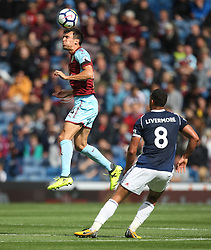 Jack Cork of Burnley (L) in action - Mandatory by-line: Jack Phillips/JMP - 19/08/2017 - FOOTBALL - Turf Moor - Burnley, England - Burnley v West Bromwich Albion - Premier League