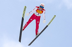16.12.2017, Nordische Arena, Ramsau, AUT, FIS Weltcup Nordische Kombination, Skisprung, im Bild Luis Lehnert (GER) // Luis Lehnert of Germany during Skijumping Competition of FIS Nordic Combined World Cup, at the Nordic Arena in Ramsau, Austria on 2017/12/16. EXPA Pictures © 2017, PhotoCredit: EXPA/ Martin Huber