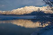 Knik River winter scene.