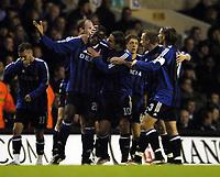 Photo: Olly Greenwood.<br />Tottenham Hotspur v Club Brugge. UEFA Cup. 02/11/2006. Club Brugge's Salou Ibrahim celebrates scoring