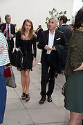 MARIA ANTCHI; HER FATHER; MASSIMO ANTCHI, Opening of Love is what you want. Exhibition of work by Tracey Emin. Hayward Gallery. Southbank Centre. London. 16 May 2011. <br /> <br />  , -DO NOT ARCHIVE-© Copyright Photograph by Dafydd Jones. 248 Clapham Rd. London SW9 0PZ. Tel 0207 820 0771. www.dafjones.com.
