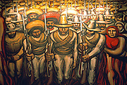 MEXICO, MEXICO CITY, MURAL Siqueiros' 'The Mexican Revolution'