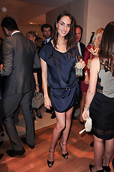 GINA ATHANS at a party to celebrate the B.zero 1 design by Anish Kapoor held at Bulgari, 168 New Bond Street, London n 2nd June 2010.